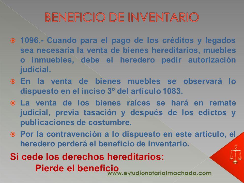 BENEFICIO DE INVENTARIO