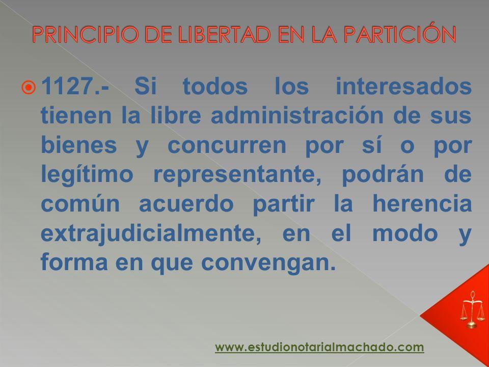 PRINCIPIO DE LIBERTAD EN LA PARTICIÓN