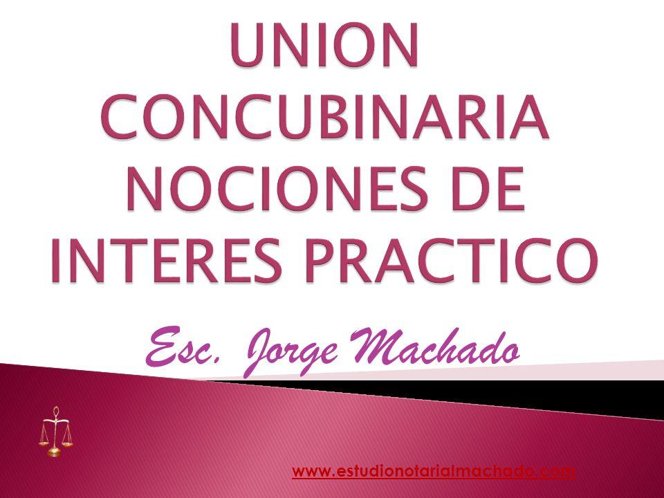 UNION CONCUBINARIA NOCIONES DE INTERES PRACTICO