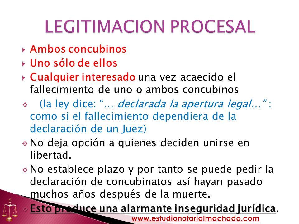 LEGITIMACION PROCESAL