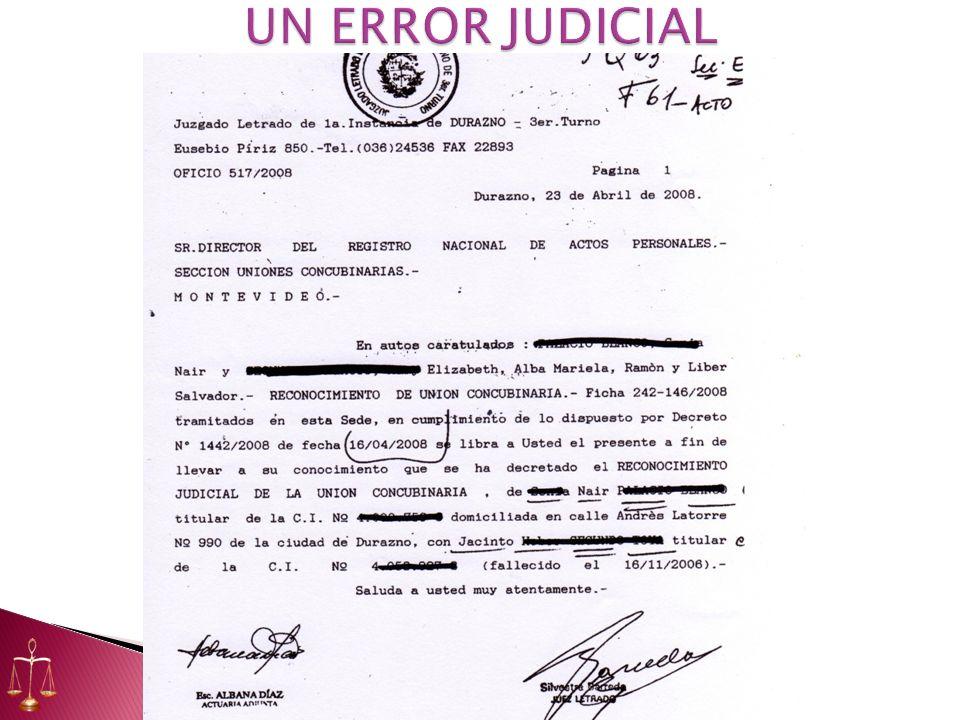 UN ERROR JUDICIAL