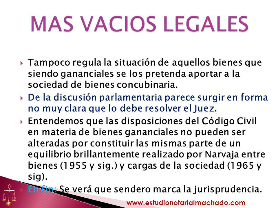 MAS VACIOS LEGALES