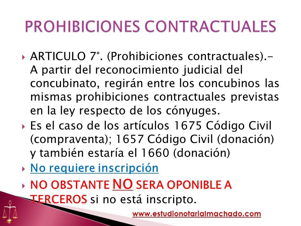 PROHIBICIONES CONTRACTUALES