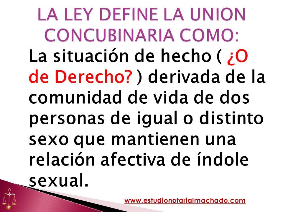 LA LEY DEFINE LA UNION CONCUBINARIA COMO: