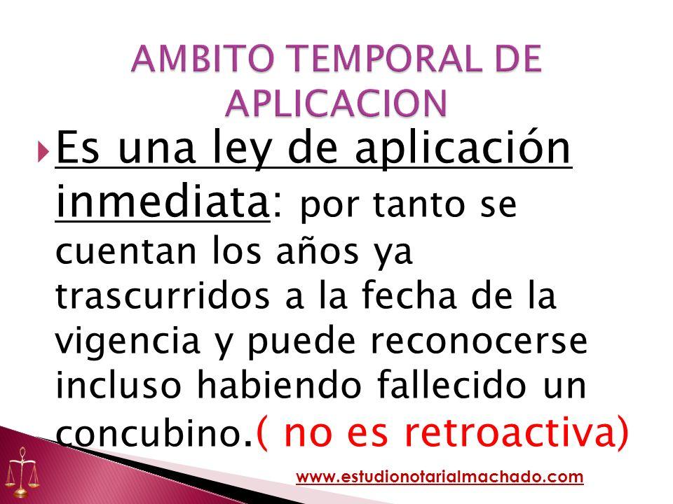 AMBITO TEMPORAL DE APLICACION