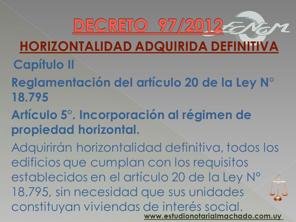 HORIZONTALIDAD ADQUIRIDA DEFINITIVA
