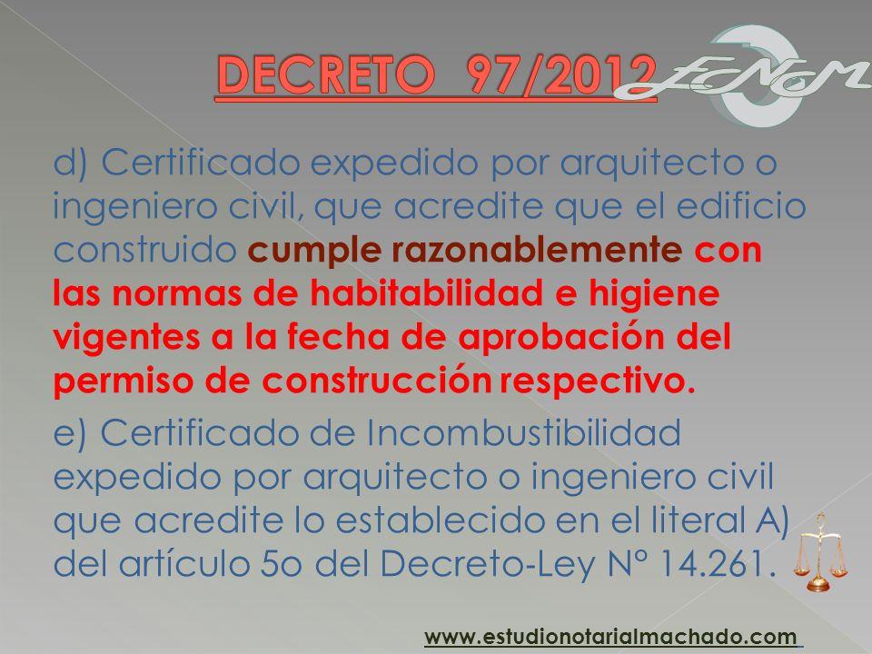 DECRETO 97/2012