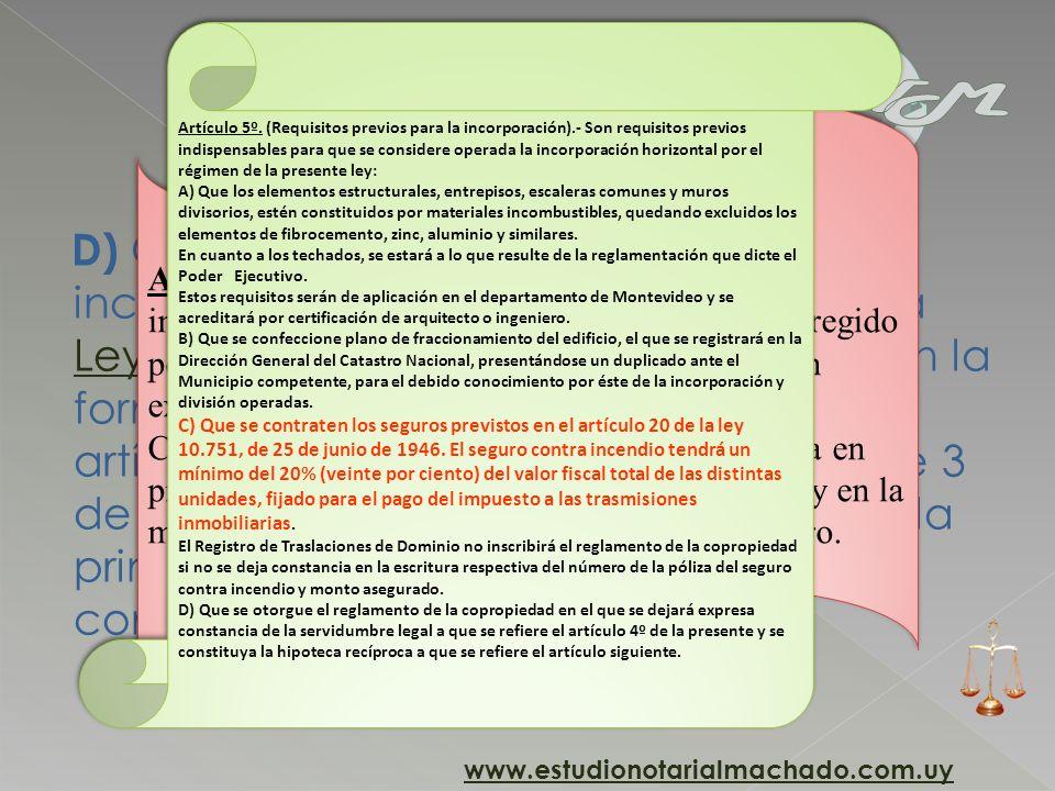Artículo 5º. (Requisitos previos para la incorporación)