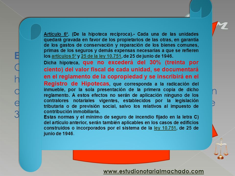 Artículo 6º. (De la hipoteca recíproca)