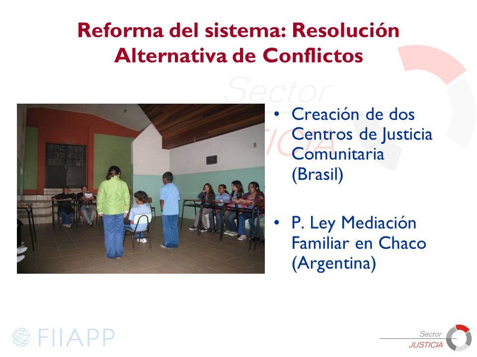 Reforma del sistema: Resolución Alternativa de Conflictos