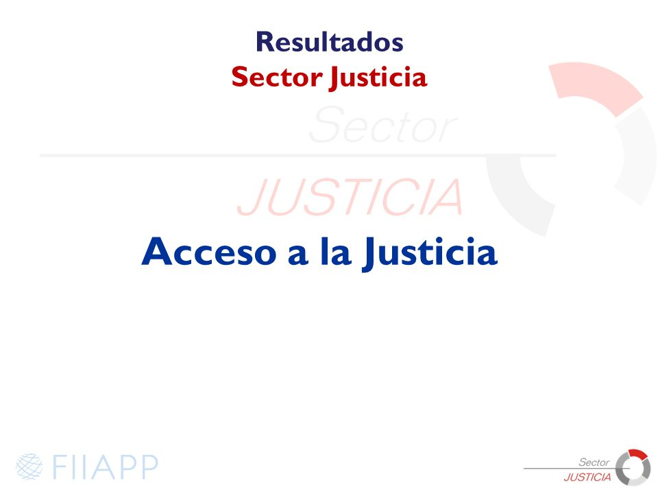 Resultados Sector Justicia