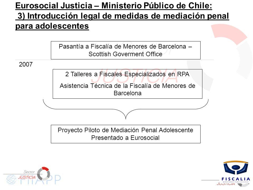 Eurosocial Justicia – Ministerio Público de Chile: 3) Introducción legal de medidas de mediación penal para adolescentes