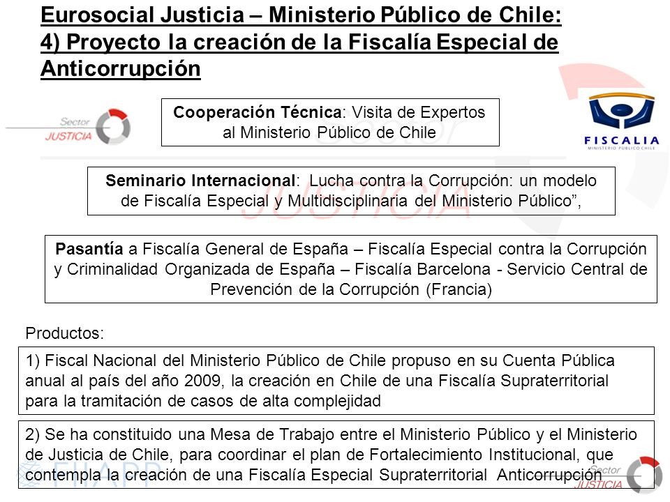 Cooperación Técnica: Visita de Expertos al Ministerio Público de Chile