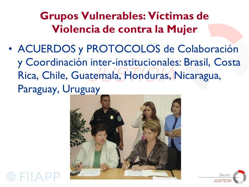 Grupos Vulnerables: Víctimas de Violencia de contra la Mujer