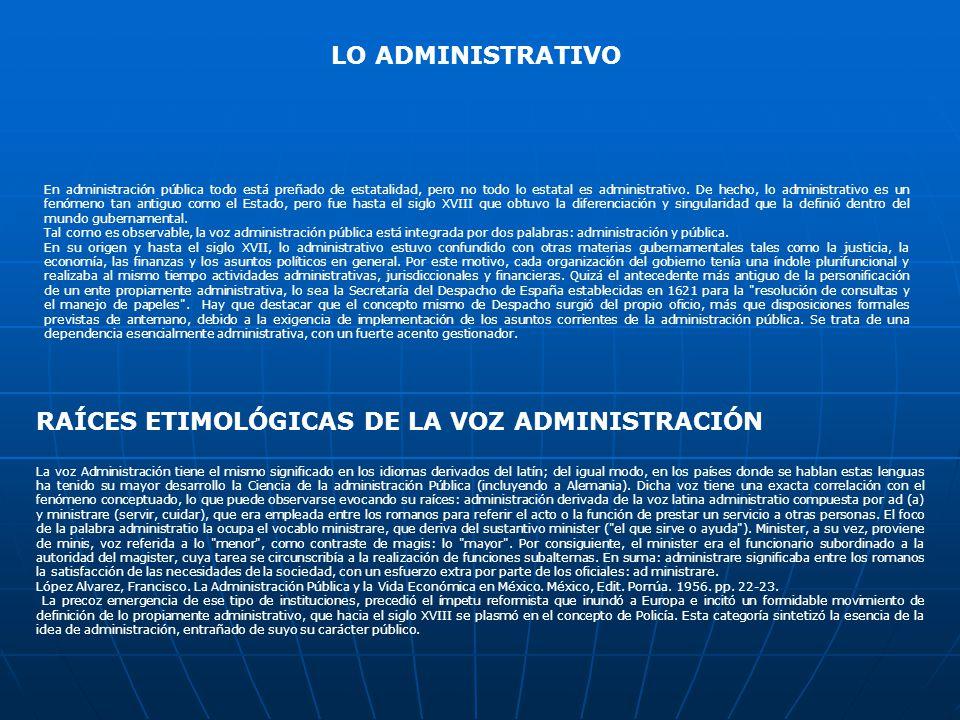 RAÍCES ETIMOLÓGICAS DE LA VOZ ADMINISTRACIÓN