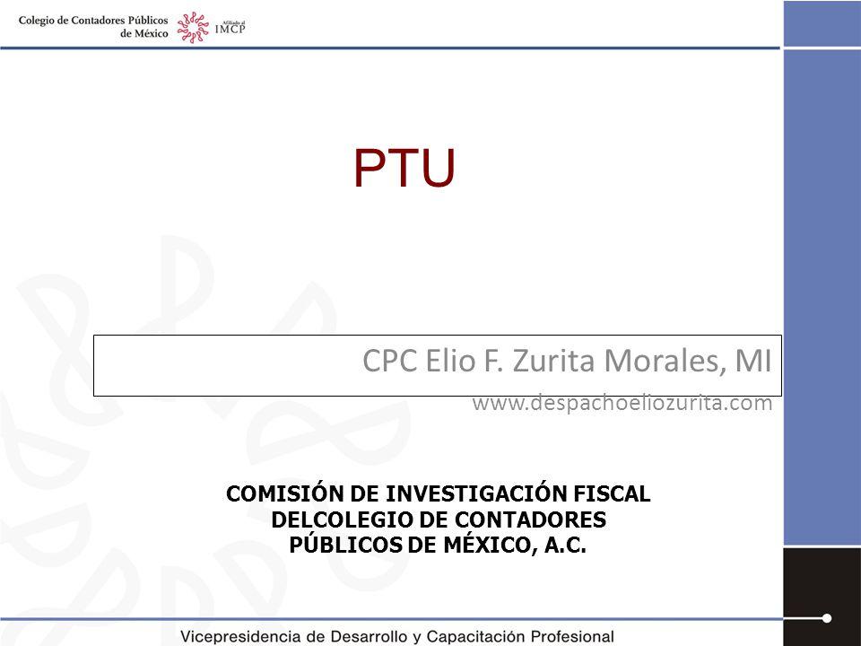 CPC Elio F. Zurita Morales, MI www.despachoeliozurita.com