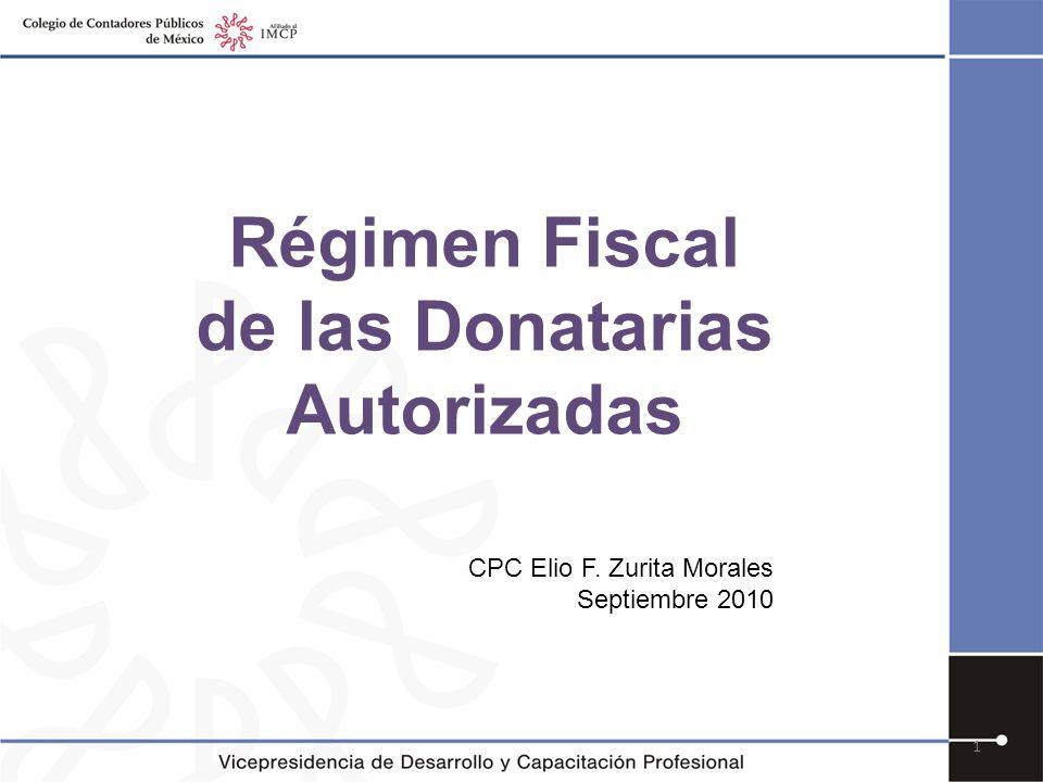 Régimen Fiscal de las Donatarias Autorizadas