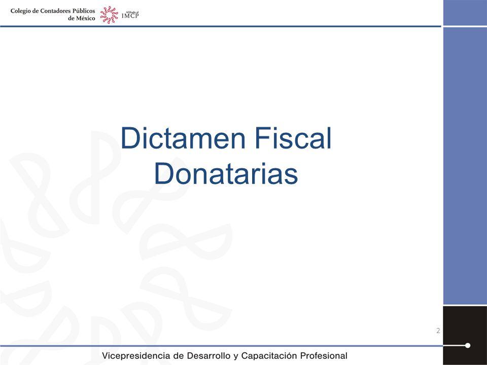 Dictamen Fiscal Donatarias