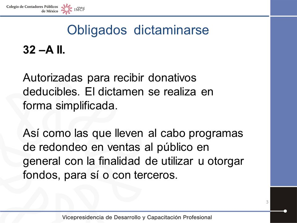 Obligados dictaminarse