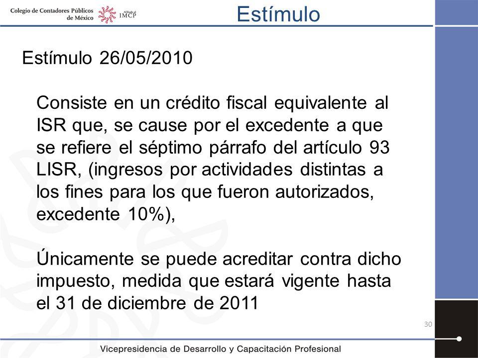 Estímulo Estímulo 26/05/2010.