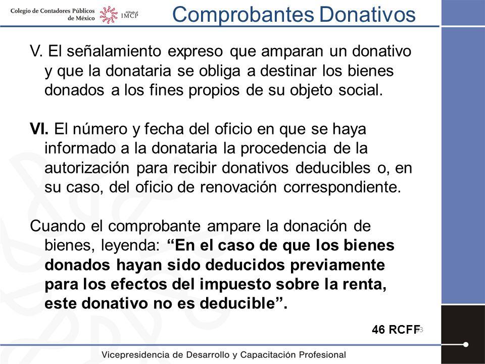 Comprobantes Donativos