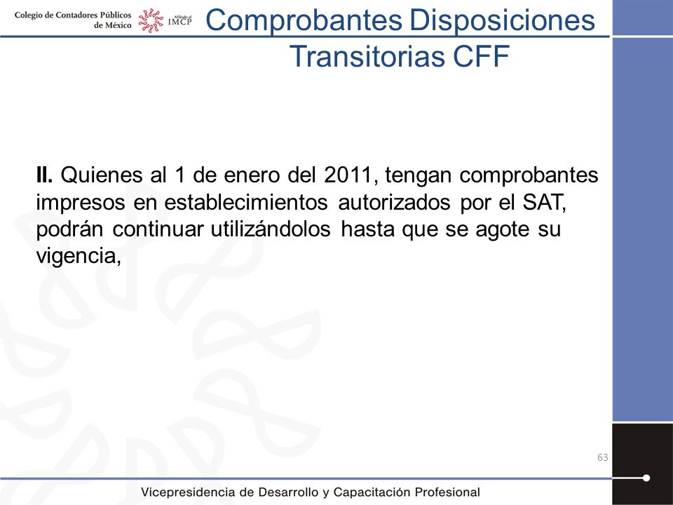 Comprobantes Disposiciones Transitorias CFF