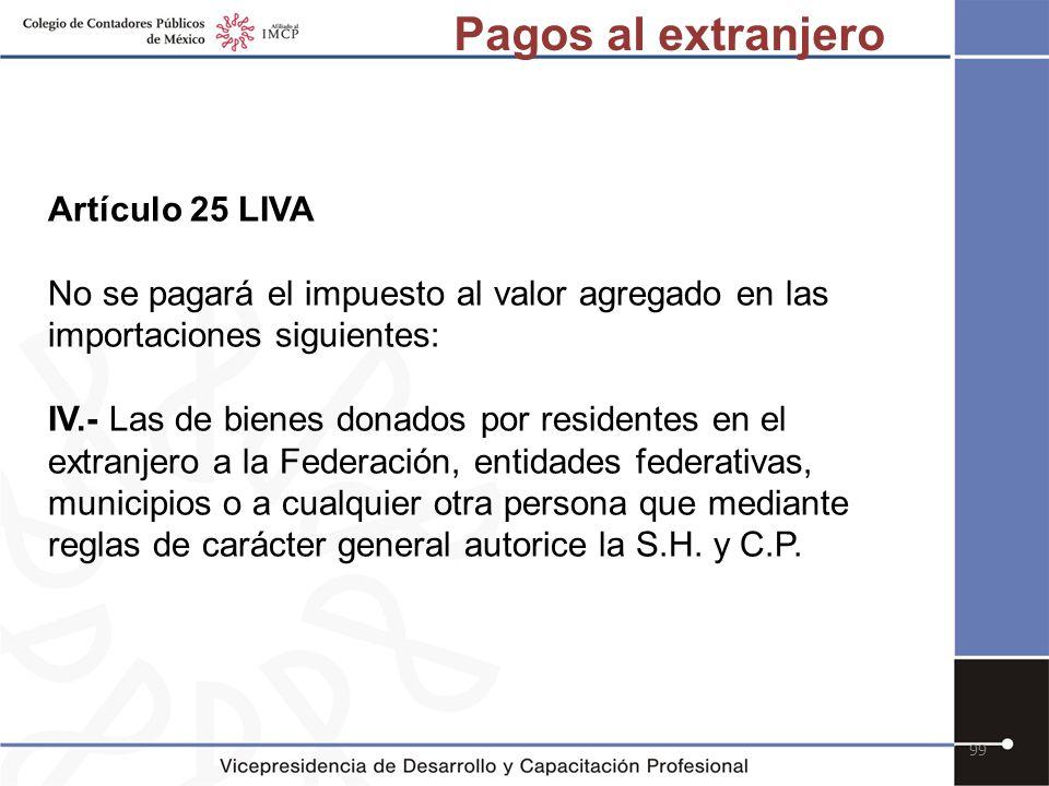 Pagos al extranjero Artículo 25 LIVA