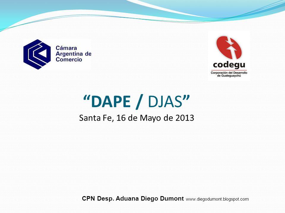 DAPE / DJAS Santa Fe, 16 de Mayo de 2013