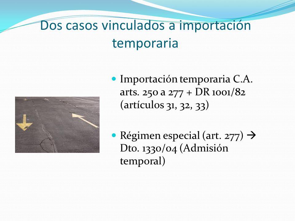 Dos casos vinculados a importación temporaria
