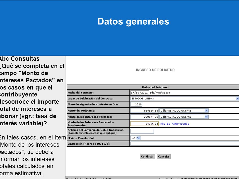 Datos generales Abc Consultas