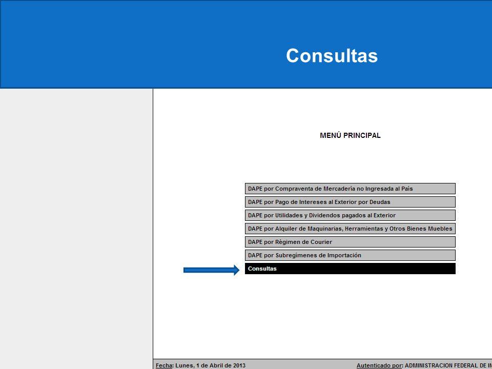 Constancia Consultas