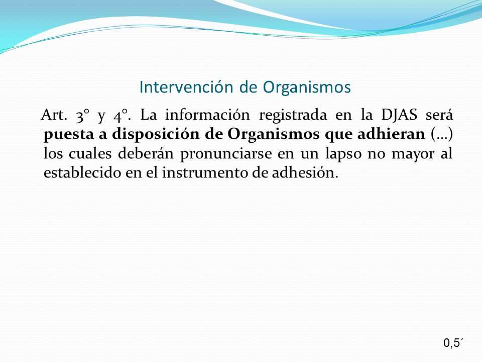 Intervención de Organismos