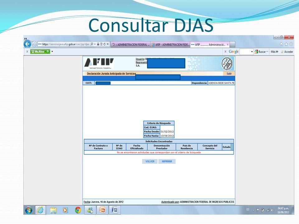Consultar DJAS