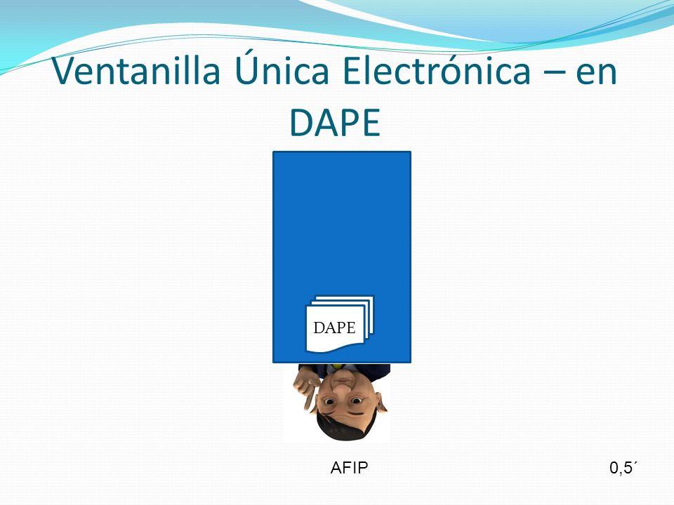 Ventanilla Única Electrónica – en DAPE