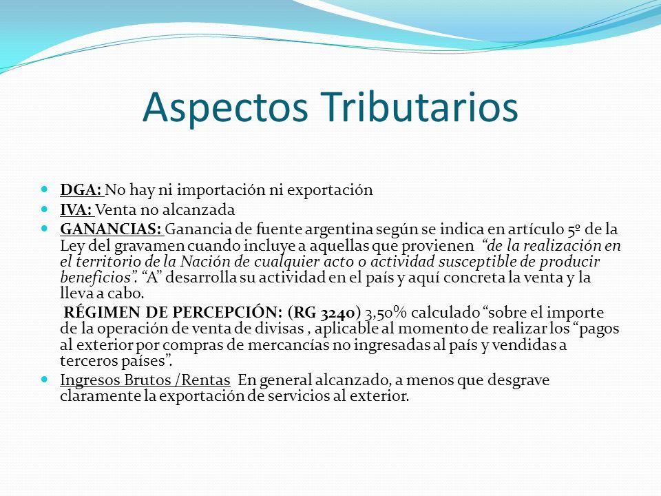 Aspectos Tributarios DGA: No hay ni importación ni exportación