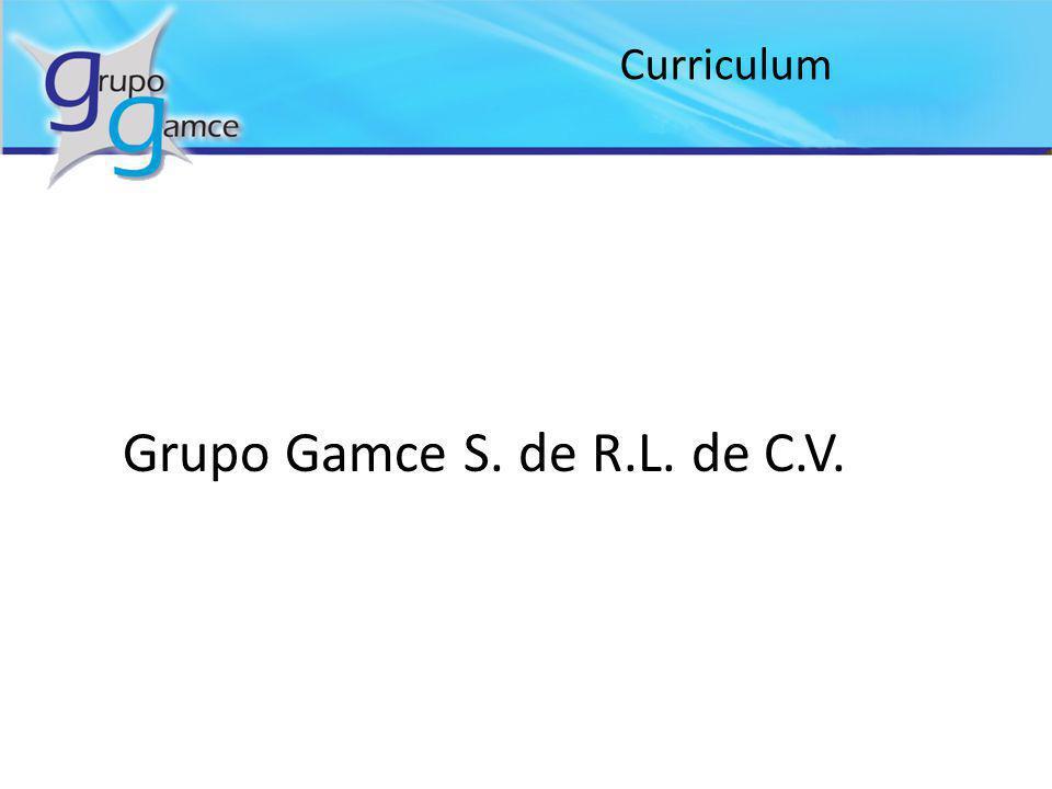 Curriculum Grupo Gamce S. de R.L. de C.V.