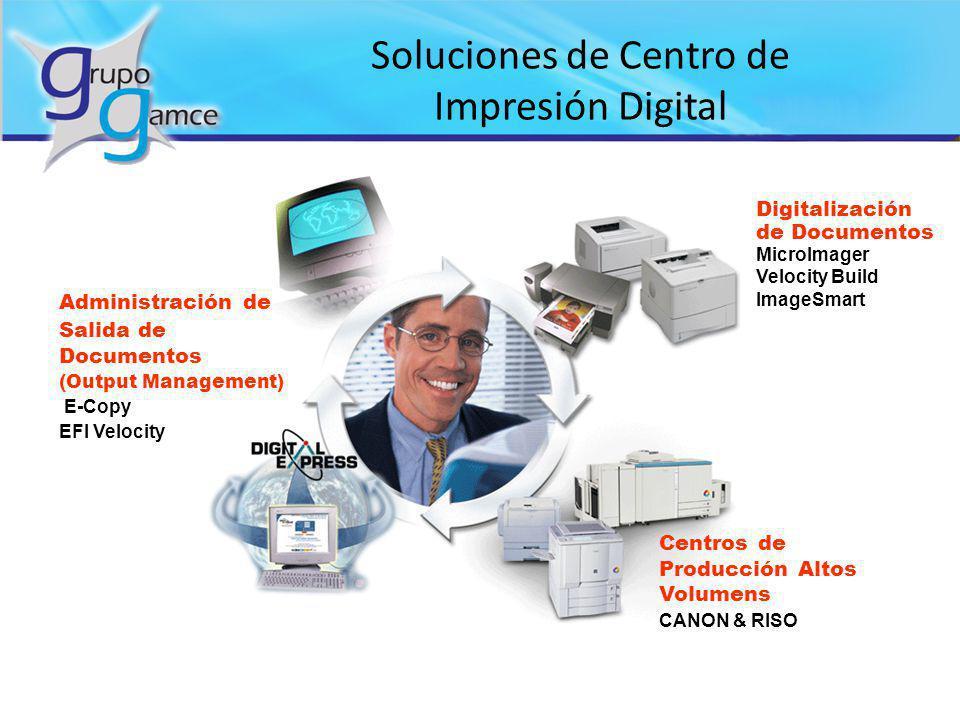 Soluciones de Centro de Impresión Digital