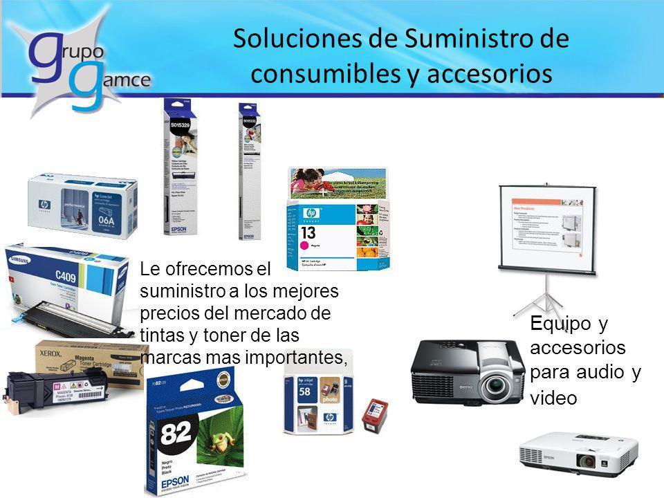 Soluciones de Suministro de consumibles y accesorios