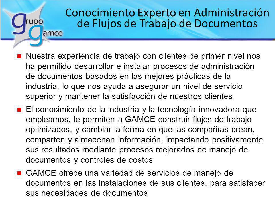 Conocimiento Experto en Administración de Flujos de Trabajo de Documentos