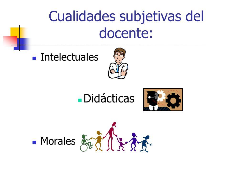 Cualidades subjetivas del docente: