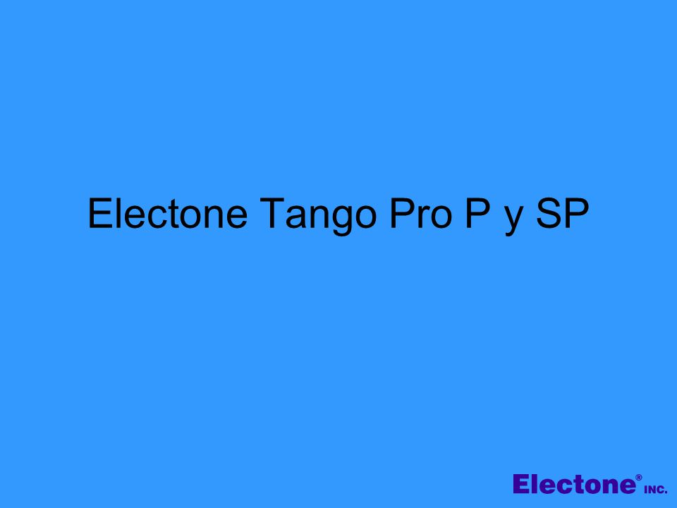 Electone Tango Pro P y SP