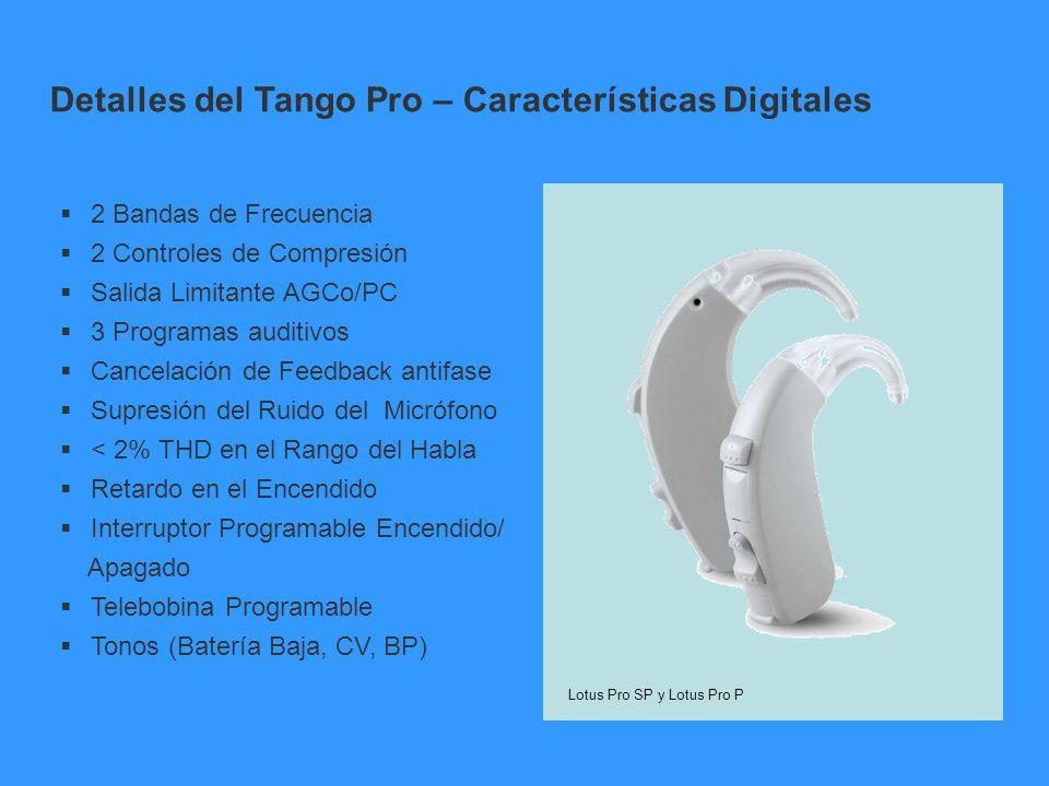 Detalles del Tango Pro – Características Digitales