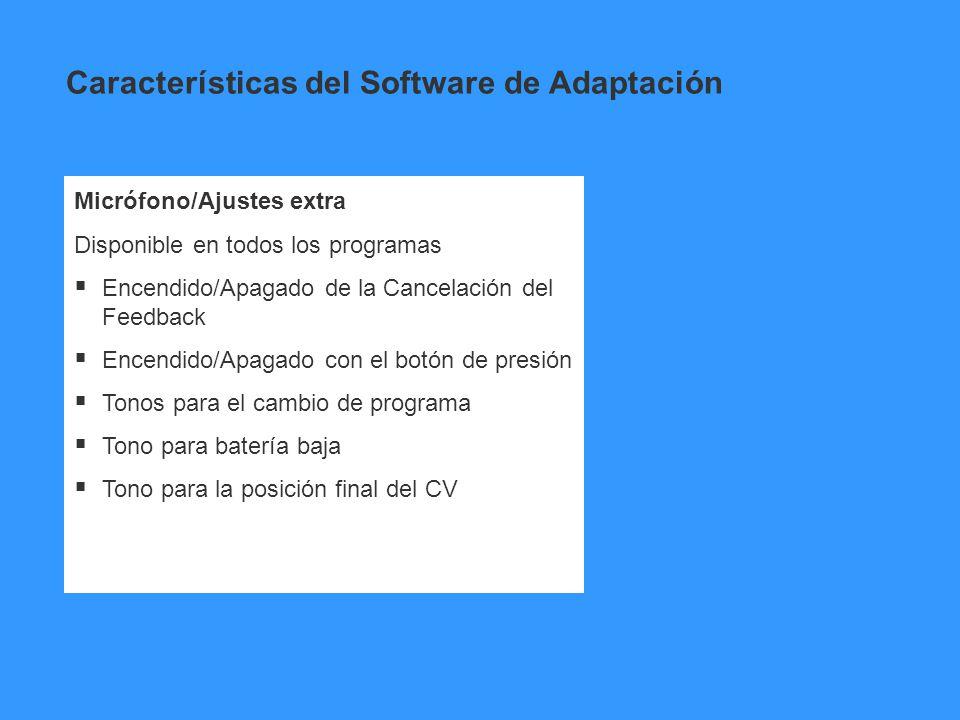 Características del Software de Adaptación
