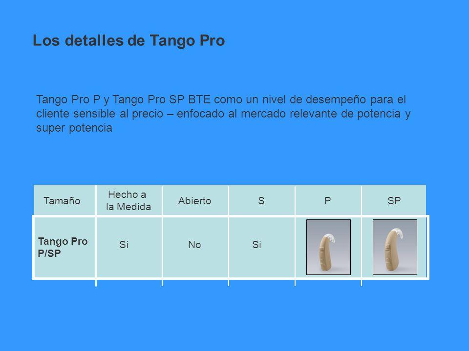 Los detalles de Tango Pro