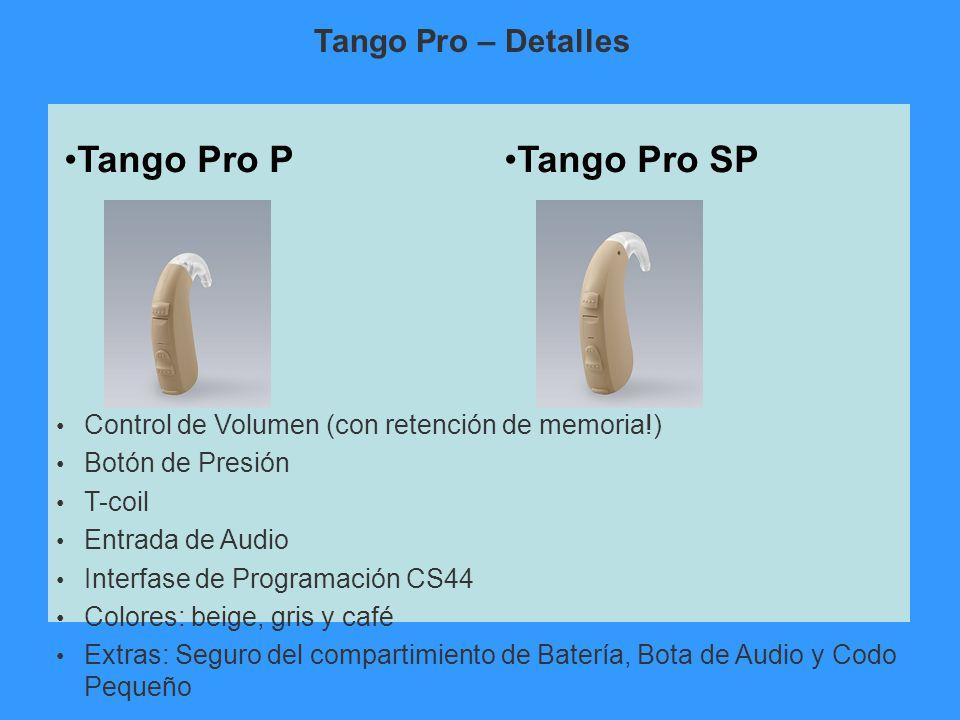 Tango Pro P Tango Pro SP Tango Pro – Detalles