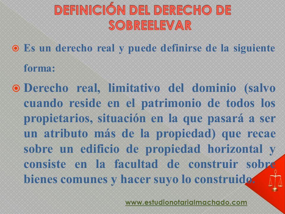 DEFINICIÓN DEL DERECHO DE SOBREELEVAR
