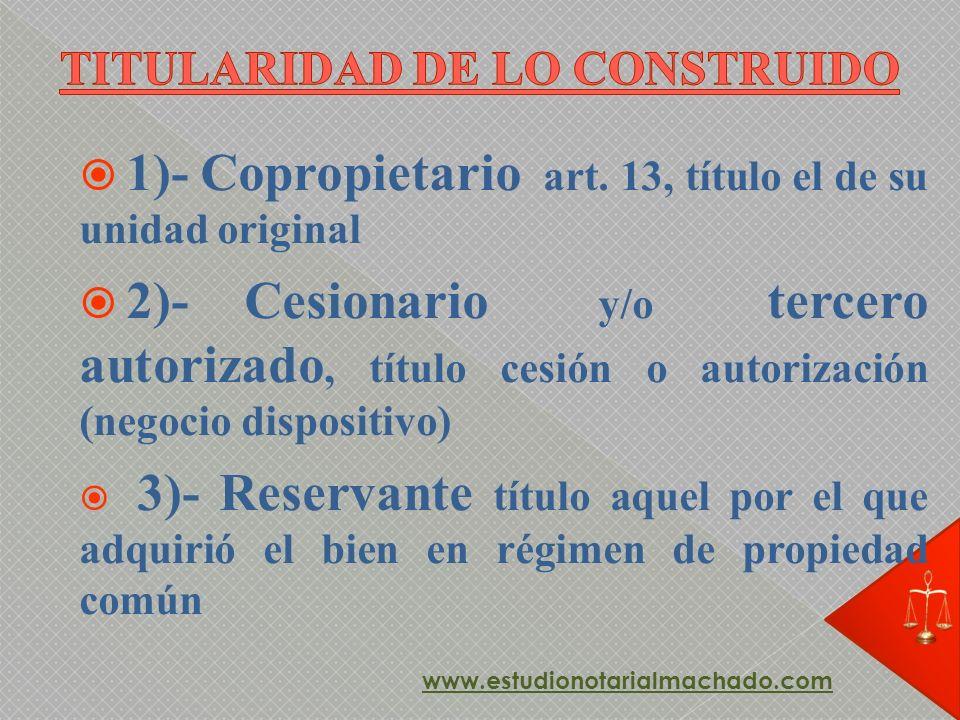 TITULARIDAD DE LO CONSTRUIDO