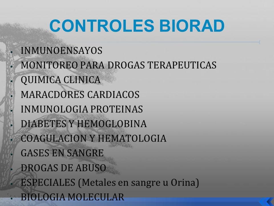 CONTROLES BIORAD INMUNOENSAYOS MONITOREO PARA DROGAS TERAPEUTICAS