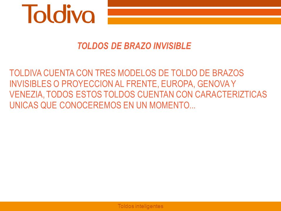 TOLDOS DE BRAZO INVISIBLE