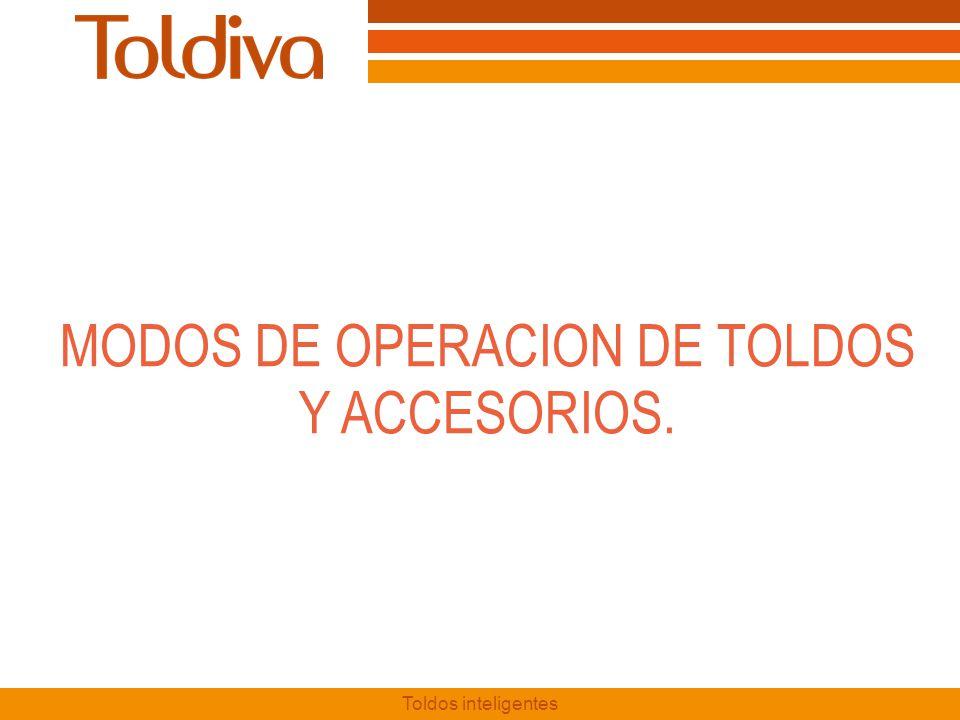 MODOS DE OPERACION DE TOLDOS Y ACCESORIOS.